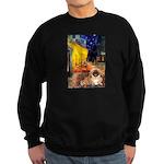 Cafe /Pekingese (r) Sweatshirt (dark)