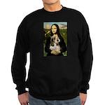 Mona Lisa / PBGV Sweatshirt (dark)