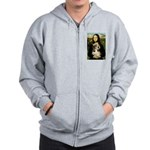 Mona Lisa / PBGV Zip Hoodie