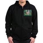 Bridge / Pitbull Zip Hoodie (dark)