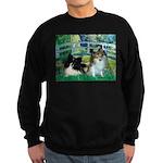 Bridge / 2 Pomeranians Sweatshirt (dark)