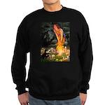 Fairies / Pomeranian (b&t) Sweatshirt (dark)