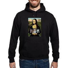 Mona Lisa/Pomeranians Hoodie (dark)
