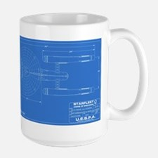 Enterprise Blue Blueprint Mugs