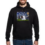 Starry/Pomeranian(r&w) Hoodie (dark)