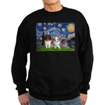 Starry Night /Pomeranian pups Sweatshirt (dark)