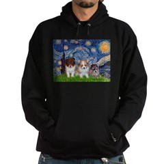 Starry Night /Pomeranian pups Hoodie