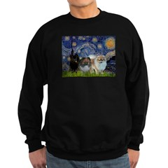 Starry/3 Pomeranians Sweatshirt