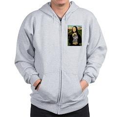 Mona / Poodle (s) Zip Hoodie