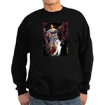 Ophelia /2 Poodles(b&w) Sweatshirt (dark)