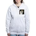 Ophelia / Poodle pair Women's Zip Hoodie