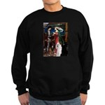 Tristan / 2 Poodles(b&w) Sweatshirt (dark)