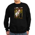 Windflowers / Poodle (BLk-ST) Sweatshirt (dark)