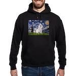 Starry Night / Std Poodle(w) Hoodie (dark)