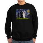 Starry Night / 2 Poodles(b&w) Sweatshirt (dark)