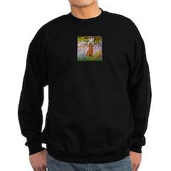 Garden/Std Poodle (apricot) Sweatshirt (dark)