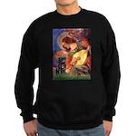 Mandolin Angel / Black Pug Sweatshirt (dark)