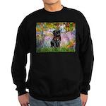 Garden / Black Pug Sweatshirt (dark)
