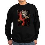 Lady / Black Pug Sweatshirt (dark)