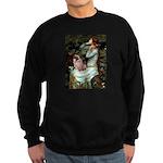 Ophelia / Fawn Pug Sweatshirt (dark)