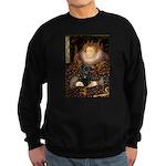 The Queen's Black Pug Sweatshirt (dark)
