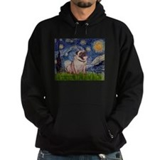Starry Night and Pug Hoodie