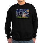 Starry Night / 2 Pugs Sweatshirt (dark)