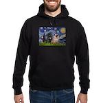 Starry Night / 2 Pugs Hoodie (dark)