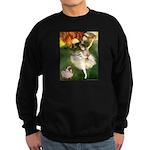 Dancer 1 & fawn Pug Sweatshirt (dark)