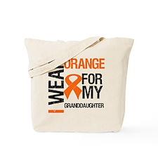 I Wear Orange Granddaughter Tote Bag