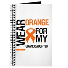 I Wear Orange Granddaughter Journal
