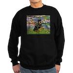 Lilies2/Rottweiler Sweatshirt (dark)
