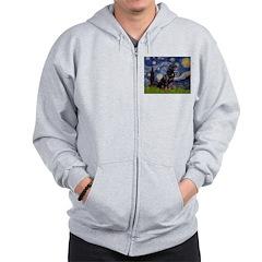 Starry/Rottweiler (#6) Zip Hoodie