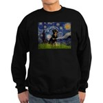 Starry Night Rottweiler Sweatshirt (dark)