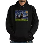 Starry Night Rottweiler Hoodie (dark)