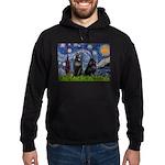 Starry / Schipperke Pair Hoodie (dark)