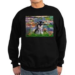 Lilies (#2)/Schnauzer Pup Sweatshirt