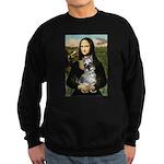 Mona Lisa's Schnauzer (#1) Sweatshirt (dark)