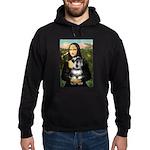 Mona Lisa's Schnauzer (#6) Hoodie (dark)