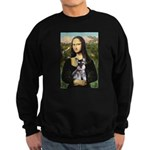 Mona Lisa's Schnauzer Puppy Sweatshirt (dark)