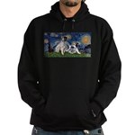 Starry Night / Min Schnauzer Hoodie (dark)