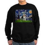 Starry Night /Schnauzer(#8) Sweatshirt (dark)