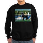 SCHNAUZER & SAILBOATS Sweatshirt (dark)