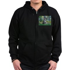 Lily Pond Bridge/Giant Schnau Zip Hoodie (dark)