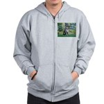 Lily Pond Bridge/Giant Schnau Zip Hoodie