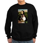 Mona Lisa / Sheltie (s&w) Sweatshirt (dark)