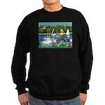 PS G. Schnauzer & Sailboats Sweatshirt (dark)