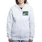 PS G. Schnauzer & Sailboats Women's Zip Hoodie