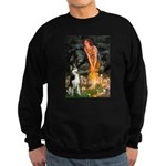 Mid.Eve / Siberian Husky Sweatshirt (dark)