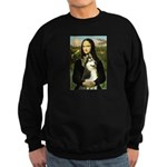 Mona Lisa & Siberian Husky Sweatshirt (dark)